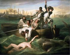 John Singleton Copley Watson and the Shark painting is shipped worldwide,including stretched canvas and framed art.This John Singleton Copley Watson and the Shark painting is available at custom size. Classic Paintings, Great Paintings, Popular Paintings, National Gallery Of Art, Art Gallery, National Art, Watson And The Shark, Shark Painting, Oil On Canvas