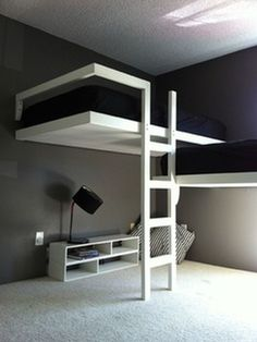 Love this bunk bed idea! #bunkbed #kids #beds