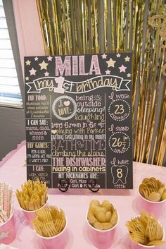Miss Mila's First Birthday Party! Pink & Gold Twinkle Twinkle Little Star Theme - The Flight Wife