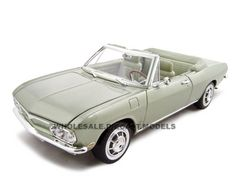 1969 Chevrolet Corvair Monza Diecast Model 1/18 Green Die Cast Car by Yat Ming
