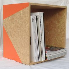 Diverted Design Crate - a new home for your magazines, books or toys, or the perfect size for vinyl records...made from reclaimed OSB from an office fitout. NZD$78 from Diverted Design. Come on over to Facebook and like us.