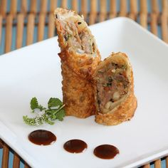 Duck Egg Rolls with Brandy infused Hoisin Sauce...simply amazing!