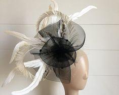 "Kentucky Derby Fascinator ""Dee"" - derby hat, tea party hat, wedding hat, church hat, Easter hat, fascinator hat"
