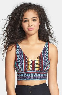 Angie Embroidered Bralette (Juniors) (Online Only) available at #Nordstrom