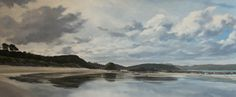 Oil on canvas, 'Tauwharanui, NZ' by Jane Sinclair Landscape Paintings, Landscapes, New Zealand Landscape, New Art, Oil On Canvas, Beach, Water, Artist, Outdoor