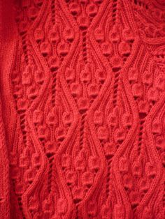 Kasha pattern leaf lace knit pattern