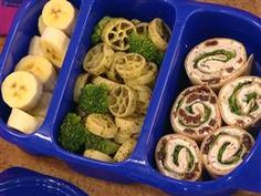 Have a circular theme with pinwheels, bananas and wheel-shaped pasta.