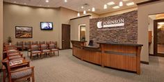 dental office design | Dental Office Design by Design Ergonomics. I like the use of stone at the reception are.  I envision using it on the face of the reception desk, quartz counter top and hardwood accents.  Carpeted floor and accent lighting...