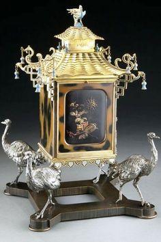 by Maison Alphonse Giroux Co mid 1800s. Jewel box, gilt bronze, tortoise & silver gilt.