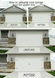 garage door trim kit17 Easy and Cheap Curb Appeal Ideas Anyone Can Do on a budget