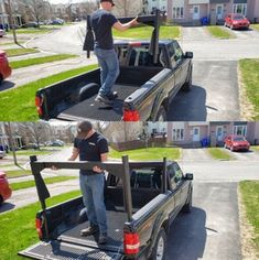 Picture of Securing the Rack on the Truck Bed Truck Bed Box, Truck Bed Rails, Truck Flatbeds, Truck Bed Camping, Truck Boxes, Pickup Trucks, Diy Storage Bed, Truck Bed Storage, Kayak Storage