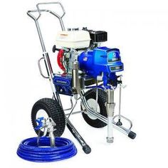 "The Graco 16W869 (Old# 248688) GMax II 5900 Hi-Boy Standard Series Gasoline Airless Sprayer comes complete with the Graco Contractor Spray Gun, RAC-X 517 Switch Tip and Guard and 50'x 1/4"" BlueMax Airless Hose.With a 160 cc Honda engine and the ability to spray up to 1.6 gallons per minute, the GMAX II 5900 is the industry standard for the professional contractor who sprays a wide variety of coatings on residential, commercial, and industrial jobs.In addition, The Standard Series sprayer…"