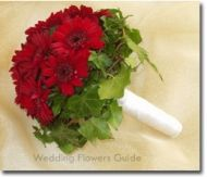 Red Gerbera Daisy Wedding Bouquet... without the green