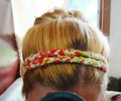 braided headbands - super easy