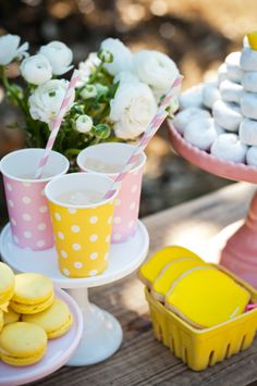 Pink Lemonade Stand Party by Deliciously Darling Events on http://frogprincepaperie.com