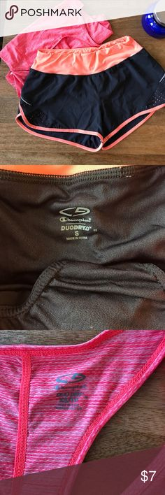Running shorts and a FREE tank EUC running shorts (size small) with a FREE tank! (XS) Champion Shorts