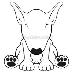 English Bull Terrier Forward Sit 2