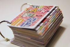 Mini Card Gratitude Journal by Corina Crafts