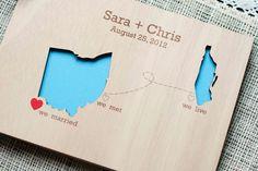 Cutout travel themed wedding invitations