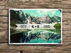 Mountain Lake Postcard Save the Date //  Sierras by factorymade, $35.00