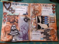 JABBERWOCKY: Humpty and Alice #art #journal