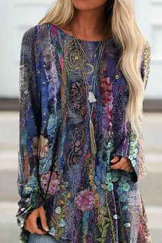INS8 Style Retro, Online Shopping Clothes, Online Clothes, Women's Clothes, Blouse Styles, Vintage Tops, Vintage Floral, Vintage Jeans, Fashion Prints