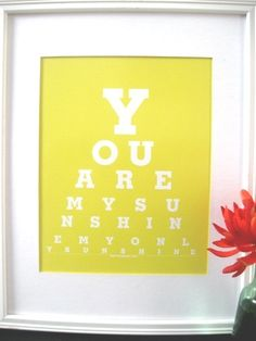 Childrens artwork/Childrens Wall art You are My by Eyecharts, $20.00