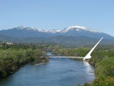 Sundial Bridge over the Sacramento River in Redding, California Redding California, California Dreamin', Northern California, Vacation Destinations, Vacation Trips, Day Trips, Vacations, Places To Travel, Places To Visit