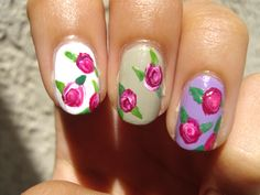 Tutorial on how to do rose nails. So simple.