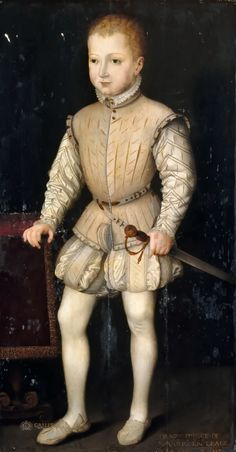 François Bunel the Younger Henri IV as a Child, at Age 4, during his stay in Paris with his parents in 1557, while Prince of Navarra Château de Versailles: