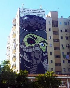 Street Art By British Muralist D*Face For The Maus Malaga Urban Art Event In Spain. 1