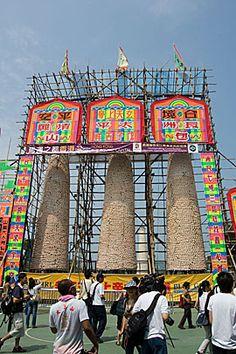 The Bamboo Bun Towers of the Cheung Chau Bun Festival