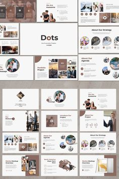 Dots Creative Powerpoint Template is a Multipurpose Creative Creative Template Presentation is a multipurpose Presentation template that can be used for any Ppt Design, Brochure Design, Booklet Design, Graphic Design, Presentation Design Template, Presentation Layout, Powerpoint Presentation Ideas, Presentation Slides, Design Portfolio Layout
