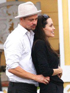 LEAN ON HIM   photo | Angelina Jolie, Brad Pitt