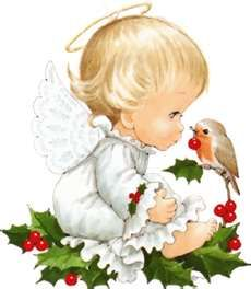 Christmas Angel with Bird