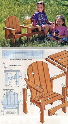 Childrens Adirondack Chair Plans - Outdoor Furniture Plans and Projects | WoodArchivist.com