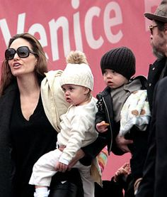 Angelina Jolie and Brad Pitt gave birth to twins in July 12th of 2008. The famous twins, Knox Leon and Vivienne Marcheline