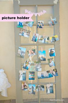 Grey and turquoise DIY wedding by I Heart Nap Time -- DIY picture holder