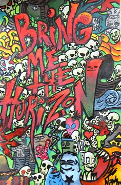 That'd be some kickass street art. Idea for anyone badass… Love Band, Cool Bands, Music Love, Music Is Life, Band Wallpapers, Gaming Wallpapers, Oliver Sykes, Bmth, My Demons
