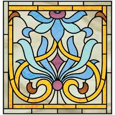 Image result for art nouveau stained glass window