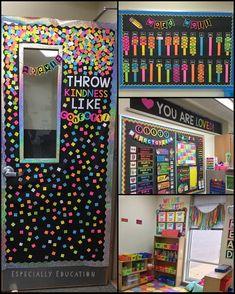 Color in da classroom! Grade 3 Classroom Ideas, Classroom Board, Classroom Setting, Classroom Setup, Classroom Design, Classroom Displays, Kindergarten Classroom, Future Classroom, Bulletin Boards