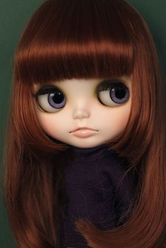 Beautiful custom Blythe doll. Unfortunately I don't know who the customizer is for this.