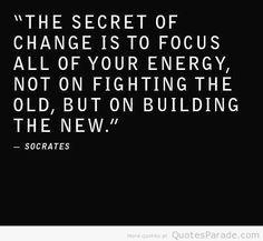 Secret of change quote via www.QuotesParade.com