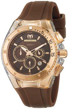 Technomarine Star Brown Rose Gold Stainless Ladies Watch 111010 BY Technomarine