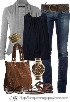 Comfy & Casual - I have a lot of these pieces, I could make this look!