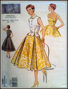 Vogue Original 1952 Design 2561 Size 121416 by ThePatternShopp, $22.00
