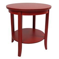 "International Caravan Ashbury End Table in Red - 25""H x 24""W x 24""D -"
