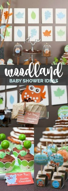 A Woodland Buddies Themed Baby Shower Sip and See via @spaceshipslb