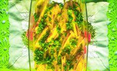 Łódeczki z cykorii i gruszek zapiekane w sosie z sera koziego