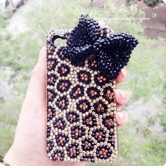Bow Iphone 5 case, Leopard Iphone